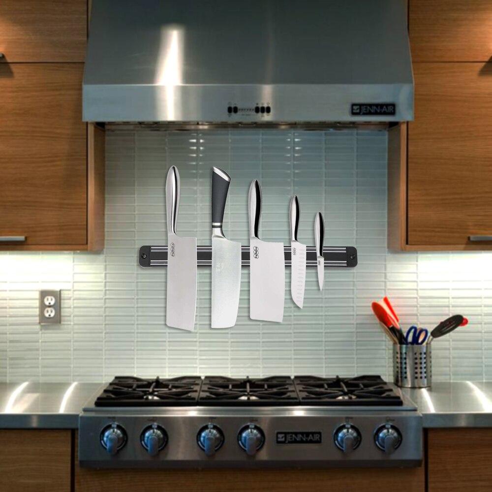 33CM Magnetic Knife Holder Kitchen Bar Knife Storage Block Wall Mount Magnetic Strip Knife Holder For Metal Knife chain
