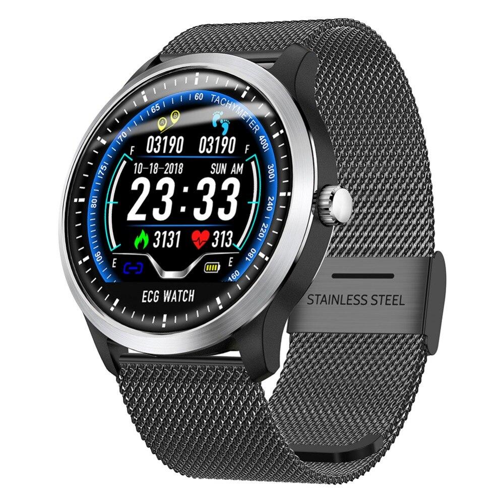 N58 montre connectée ECG montre de sport ECG + PPG ECG VRC Rapport Coeur Taux Épreuve De Pression Artérielle IP67 Étanche Bracelet À Puce