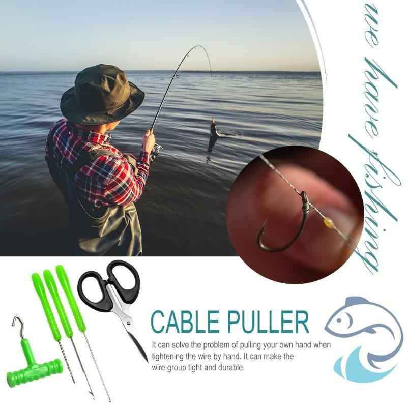 קרפיון דיג Rig סט כלי שחבור מחטי קשר חולץ תרגיל קרפיון דגי כלי