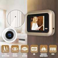 2.4 بوصة LCD الرقمية جرس باب يتضمن شاشة عرض فيديو المشاهد باب أمان مراقبة العين كاميرا بطارية ليثيوم USB الأمن كاميرا