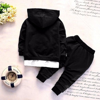2019 Spring Baby Casual Tracksuit Children Boy Girl Cotton Zipper Jacket Pants 2Pcs/Sets Kids Leisure Sport Suit Infant Clothing 1