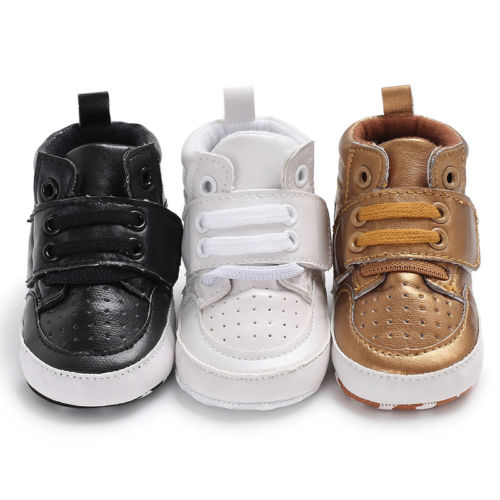0-18 Mt Kleinkind Schuhe Baby Junge Mädchen Pu Stiefeletten Krippe Schuhe Anti-slip Sneaker Hohe Schuhe Casual Tropf-Trocken