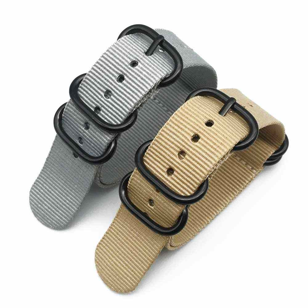 الناتو النايلون حزام (استيك) ساعة الزولو حزام 20 مللي متر 22 مللي متر 24 مللي متر مخطط قوس قزح قماش استبدال النايلون الثقيلة Watchbands اكسسوارات