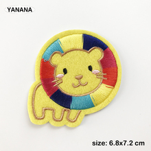 Lion Cartoon Patch for Clothing Iron on Embroidered Sewing Applique DIY Apparel Accessories homfun full square round drill 5d diy diamond painting deer scenery embroidery cross stitch 5d home decor gift a18124