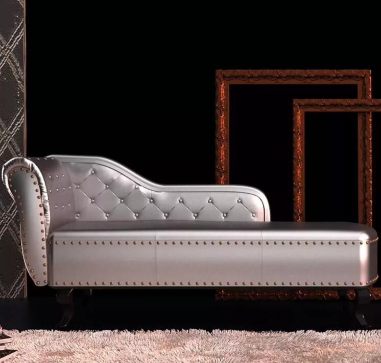 VidaXL Честерфилд шезлонг диван обитый Серебряный Роскошный диван элегантный шезлонг деко диван покупающий агент оптовая продажа