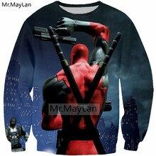 Funny 3D Print Movie Deadpool Sweatshirts Men/Women Hip Hop Pullover Hoodies Boys Cool Streetwear Outwear sudaderas para hombre