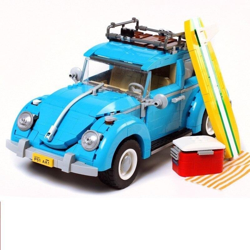 21001 Briques 1354 pièces Technic Bluding Blocs T1 Campeur Van Modèle Bloc Compatible Legoing 10220 Briques Jouets