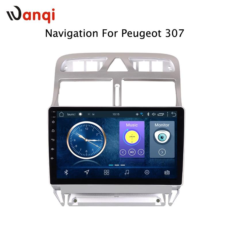 Lecteur vidéo DVD de voiture Android 8.1 Navigation GPS multimédia pour peugeot 307 Radio 2004-2013