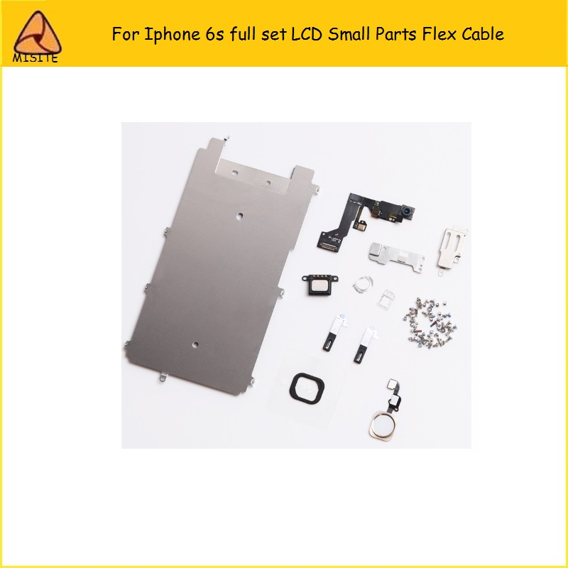 50Pcs/Lot For iphone 6S LCD Digitizer Full Set Small Repair Part Metal Shield Plate Front Camera Ear Speaker Home Button Flex image