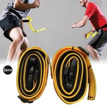 2PCS Adult Children Speed Response Belt Yellow Waistband Basketball Football Agility Defensive Ability Training Equipment