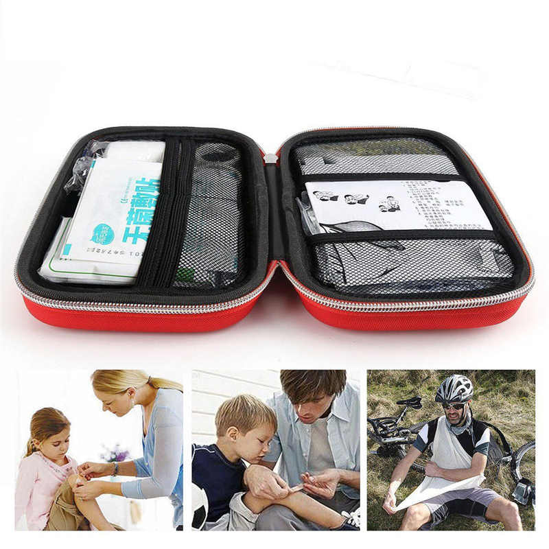 2019 Hot First Aid Kit Bag Emergency Medical Survival Treatment Rescue Empty Box Eyeful Travel Storage Bag Outdoor First Aid Kit