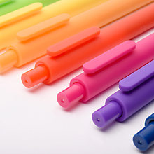 10pcs/Lot Macaron Candy Color Gel Ink Pen For Writing Signature 0.5mm Pure Soft Touch Ballpoint Office School Supplies
