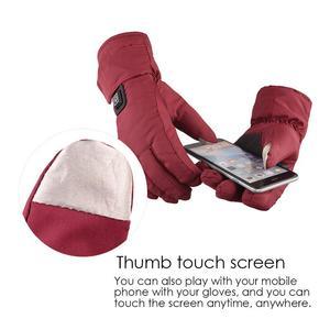 Image 4 - Einstellbare Temperatur Thermische Handschuhe Batterie Powered Wiederaufladbare Beheizte Handschuhe Wasserdichte Touch Screen Handschuhe Wärmer Für Frauen
