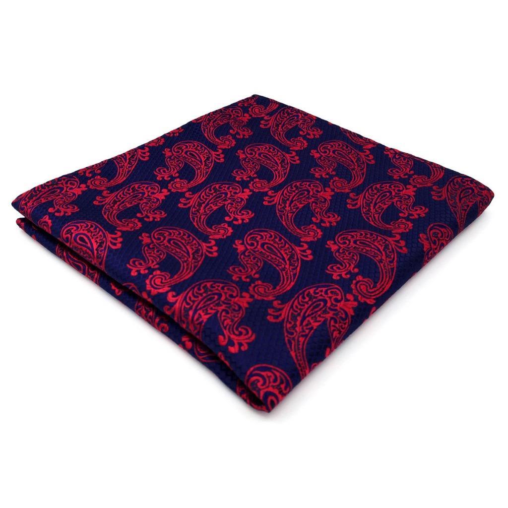MH15 Paisley Blue Mens Pocket Square Silk Jacquard Woven Wedding Hanky Fashion Handkerchief