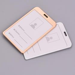 1 шт. алюминиевый сплав держатель для карт визитная карточка ID бейдж держатель вертикальный металлический ID Бизнес чехол