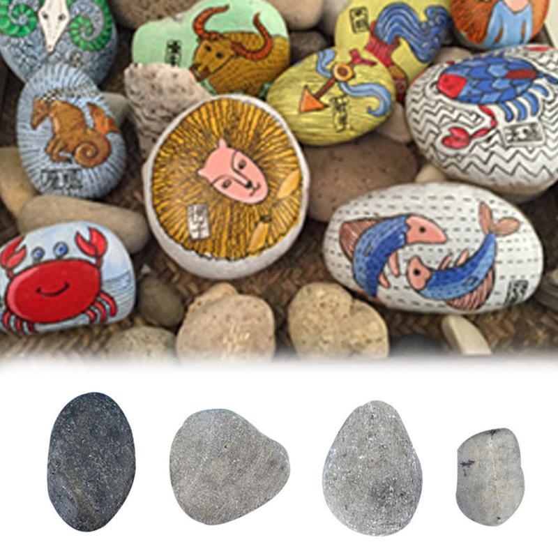 Children's Painted Stone Diy Hand-Painted Cobblestone Riverstones Painting Stone Cartoon Creative Stone Educational Toys