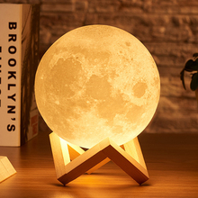 Moon Christmas Drop Shipping 3D Print Lamp 2colors LED Night Light for Home Christmas Decoration gift