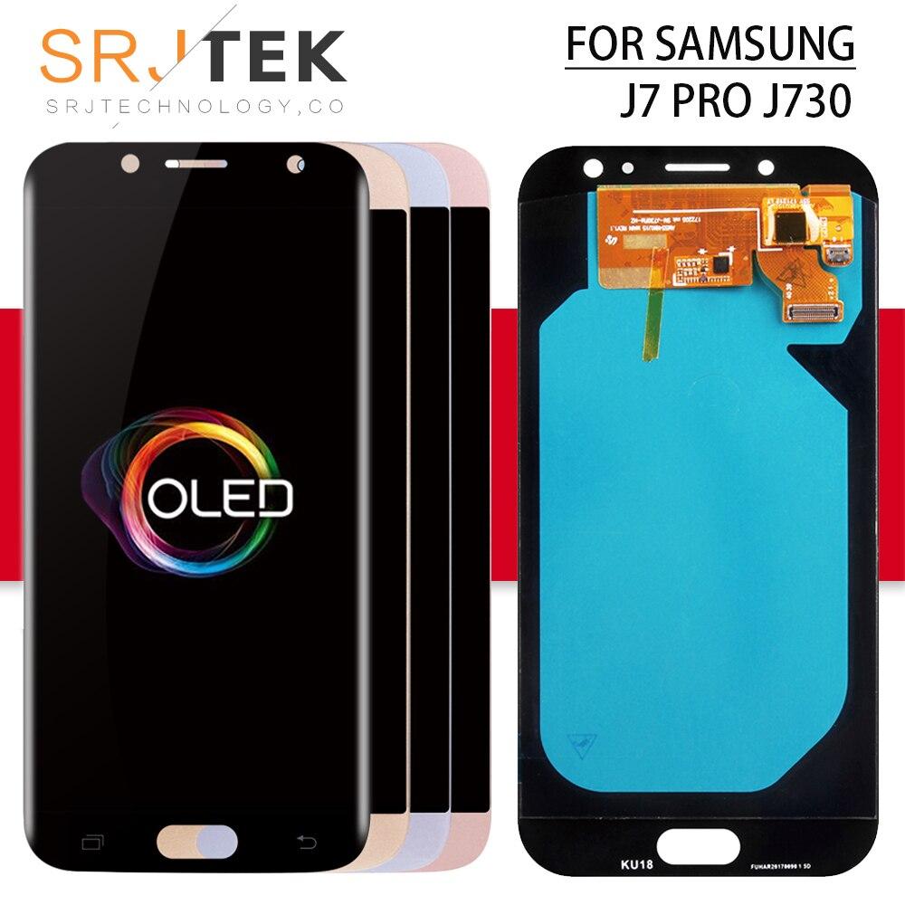 OLED Srjtek pour SAMSUNG Galaxy J730 LCD J7 Pro affichage J7 PRO capteur de numériseur tactile avec cadre LCD J7 2017 J730F écran en verre