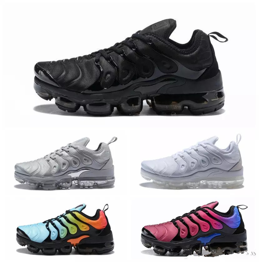 Nouveau Air Cargo kaki Vapormax Plus Tn Plus classique chaussures de course en plein Air chaussures de Sport noir blanc hommes baskets choc