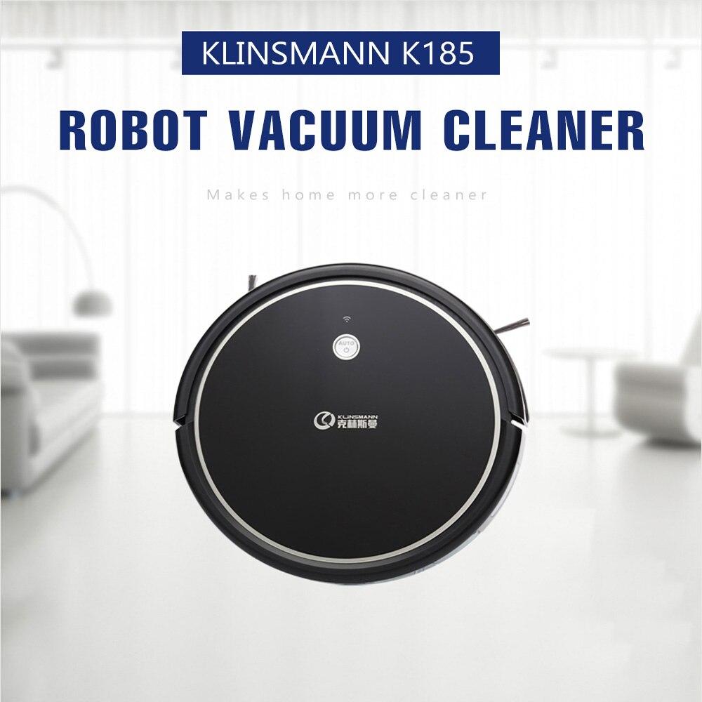 KLiNSMANN K185 Intelligente Aspirapolvere 1800 Pa Forte Aspirazione A Basso Rumore Aspiratore Collettore di Polveri WiFi di Controllo Remoto Del Robot Pulitore
