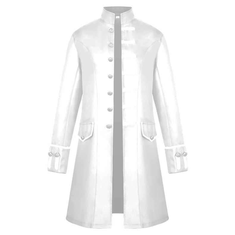 2018 Renaissance Men's Coat Medieval Clothing Solid Color Fashion Steam  Punk Vintage Men's Uniform Larp Viking Costume