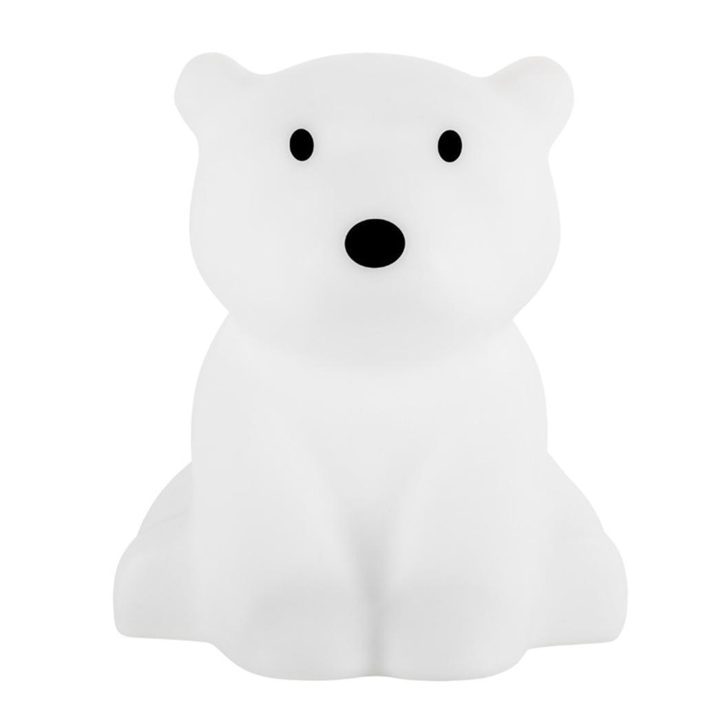 Children LED Night Light Dimmable Kids Cartoon 100 240V White light Polar Bear Shape 5W Decorative Lamp