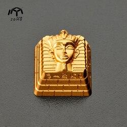 1pc ZOMO faraon oko boga Key Cap oryginalna osobowość metalowa przezroczysta klawiatura mechaniczna Keycap