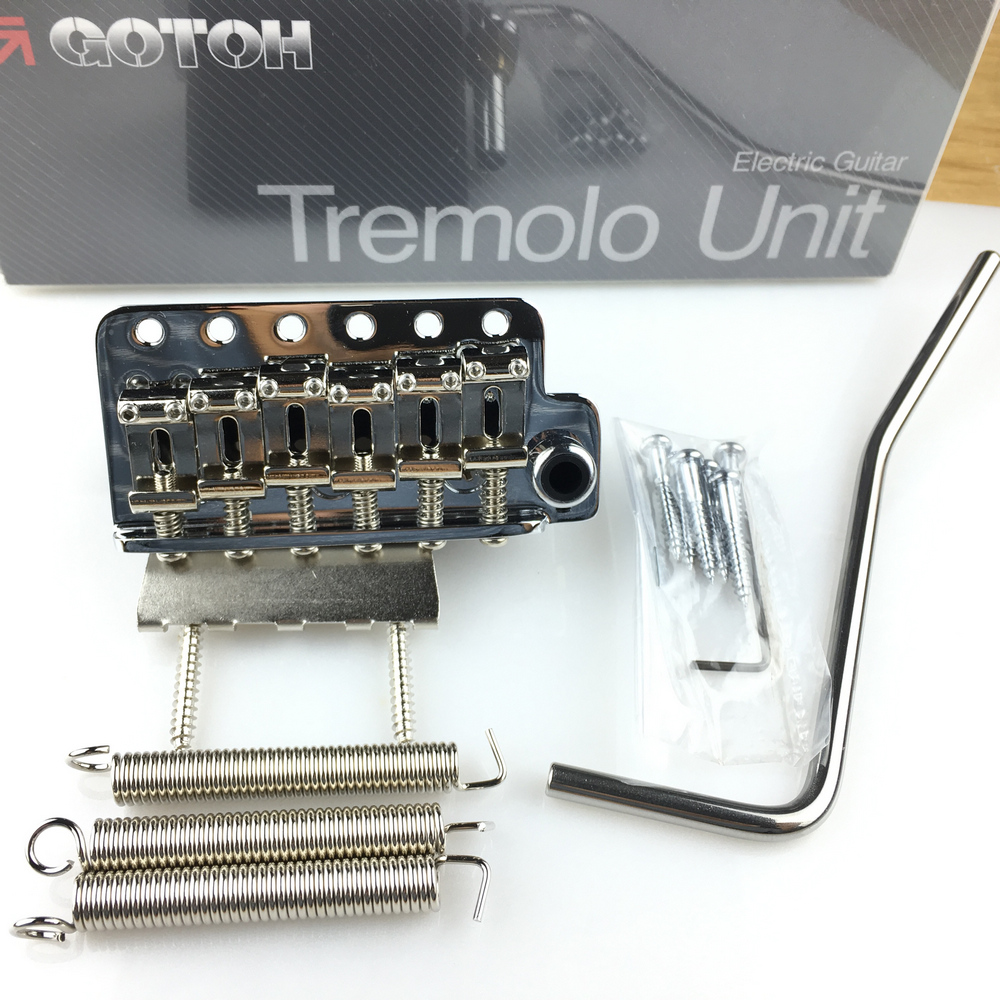 Genuine Original GOTOH 510T SF2 Electric Guitar Tremolo System Bridge Silver Chrome Made In Japan