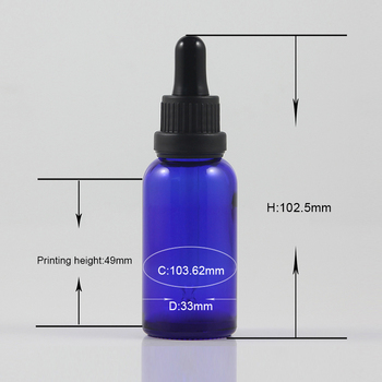 Cosmetic Container 1 Ounce Dropper Glass Botte For Perfume Essential Oil Refillable 30ml Makeup Packaging