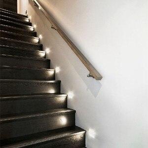 Image 4 - Lampada Đèn LED Dán Tường Đèn Acrylic Sconce Sáng Tạo Bước Đèn Footlight Hành Lang Cầu Thang Con Đường Trang Trí Đèn Tường Hiện Đại