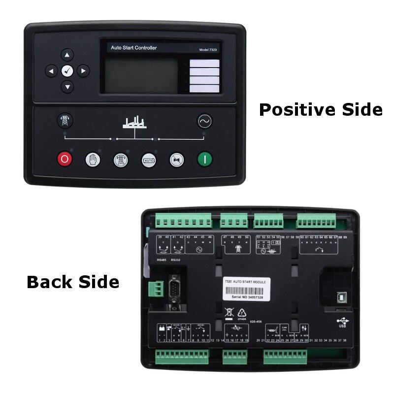 Contrôleur de mer profonde noire DSE7320 groupe électrogène Module de contrôle de démarrage automatique nouveau panneau de Module de contrôle de contrôleur électronique