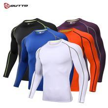 Мужское нижнее белье Outto для велоспорта, с длинными рукавами, компрессионное, быстросохнущее, эластичное, тонкое, для пробежек, тренировок, дышащее, для велосипеда