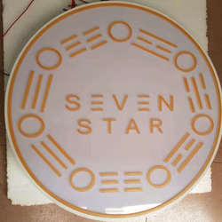 Niestandardowe 3D podświetlana akrylowym zapalanie litery antyczne doprowadziły pizzy sklep Kaseton świetlny