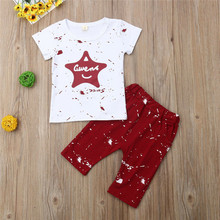 Infant Baby Boys Casual Sport Clothes Star T-Shirt Tops+Shorts Outfits baby boy Cotton clothes 2019 New Summer