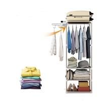 Bedroom Furniture Simple Metal Iron Coat Rack Floor Standing Clothes Hanging Storage Shelf Clothes Hanger Racks Bedroom Furnitur