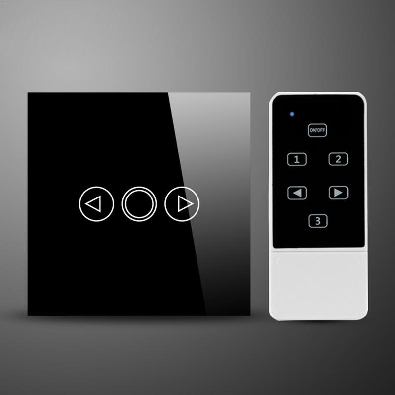 Noir LED Gradateur Commutateur Intelligent Sans Fil Télécommande LED Gradateur Panneau de Verre Trempé Style