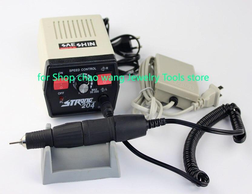204 moteur de polissage broyeur électrique rectifieuse électrique sans brosse manucure bijoux outils