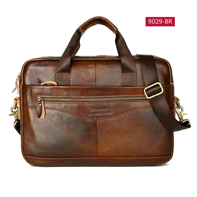 OYIXINGER Business Men's Briefcases Genuine Leather Men Handbag Casual Totes Male Messenger Laptop Bag Man Lawyer Shoulder Bags