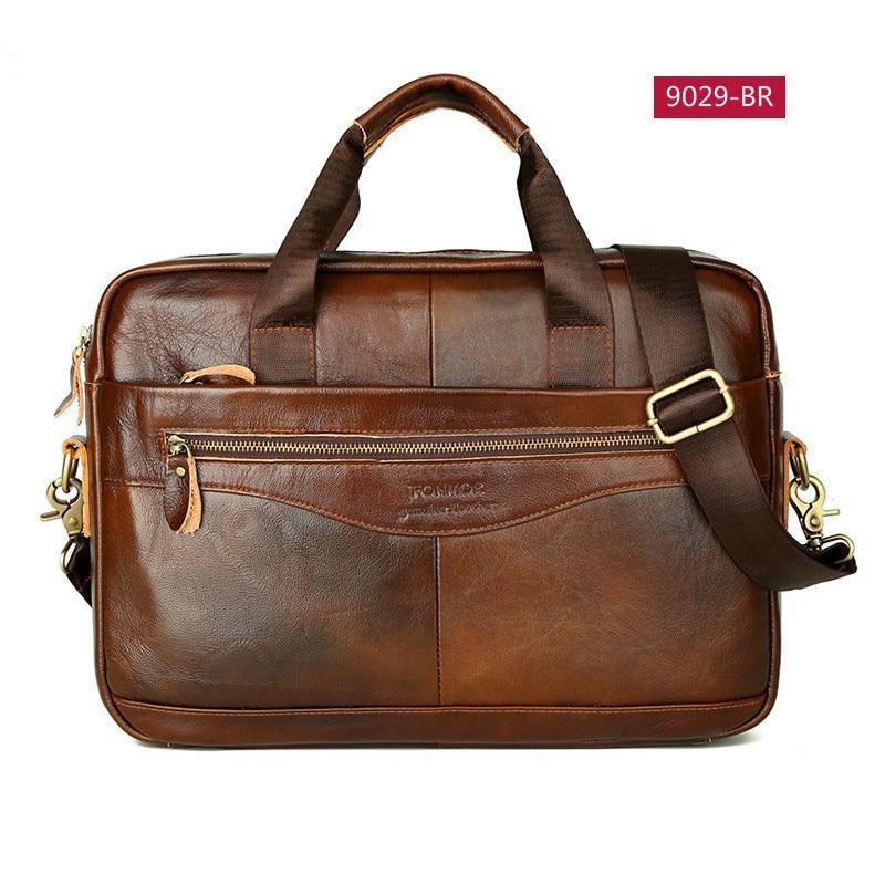 OYIXINGER Business Men's Briefcases Genuine Leather Men Handbag Casual Totes Male Messenger Laptop Bag Man Lawyer Shoulder Bags