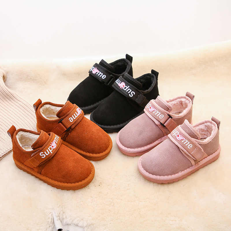 Winter the New Children s Boots for Boys   Girls Suede Lining Simple Light  Warm Comfortable Solid d899b3d0531f