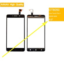 10Pcs/lot For Alcatel One Touch Pixi 4 OT-8050D OT8050 8050 Touch Screen Touch Panel Sensor Digitizer Front Glass Touchscreen цены онлайн