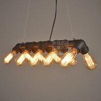 Американский промышленный Лофт водопровод стимпанк Винтаж подвесные светильники для столовой Бар Ржавчины/черный домашний подвесной свет
