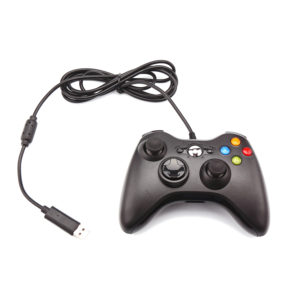 Usb Wired Controller Gamepad 360 Precision 3d Joystick Led Indicator Double Vibration Joypad For Win98/me/2000/xp/win7/win8 Gamepads Video Games