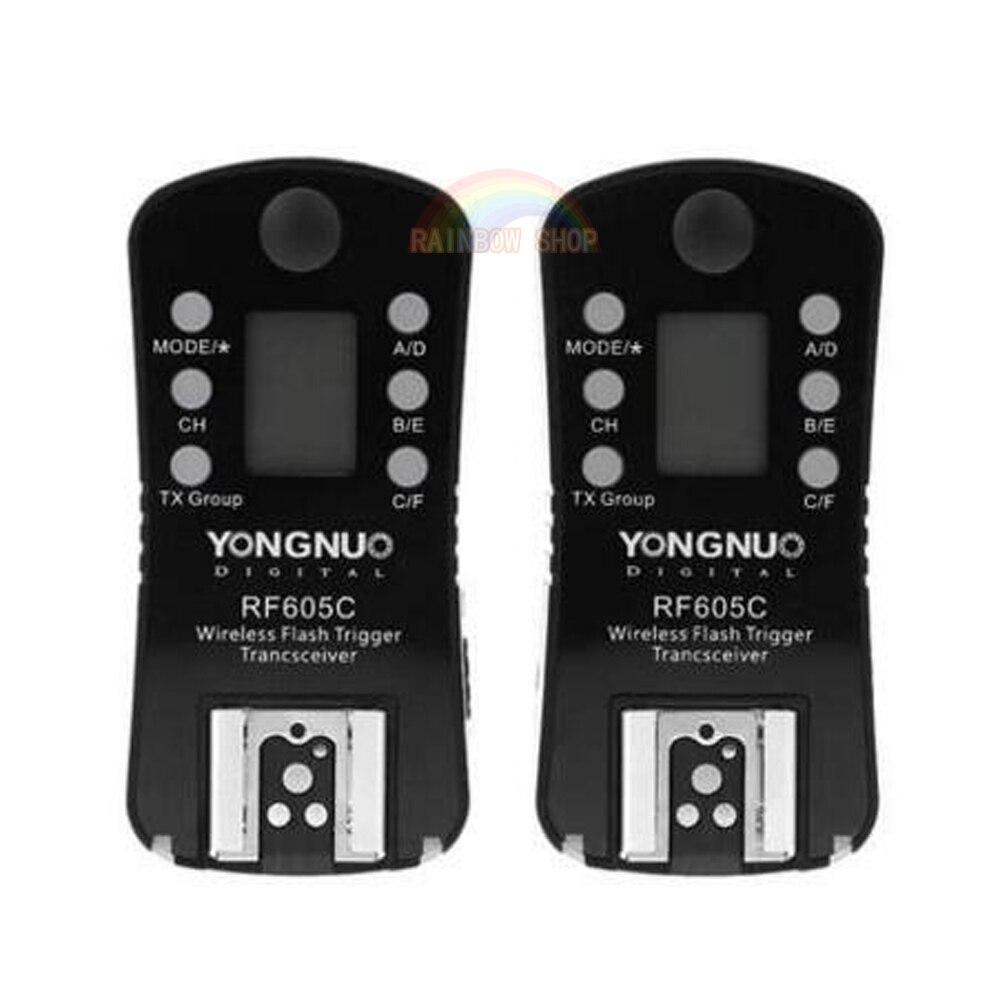 YONGNUO RF605C RF605C RF 605C RF605 C déclencheur Flash sans fil et déclencheur d'obturation 16 canaux pour les caméras Canon DLSR déclencheur Flash