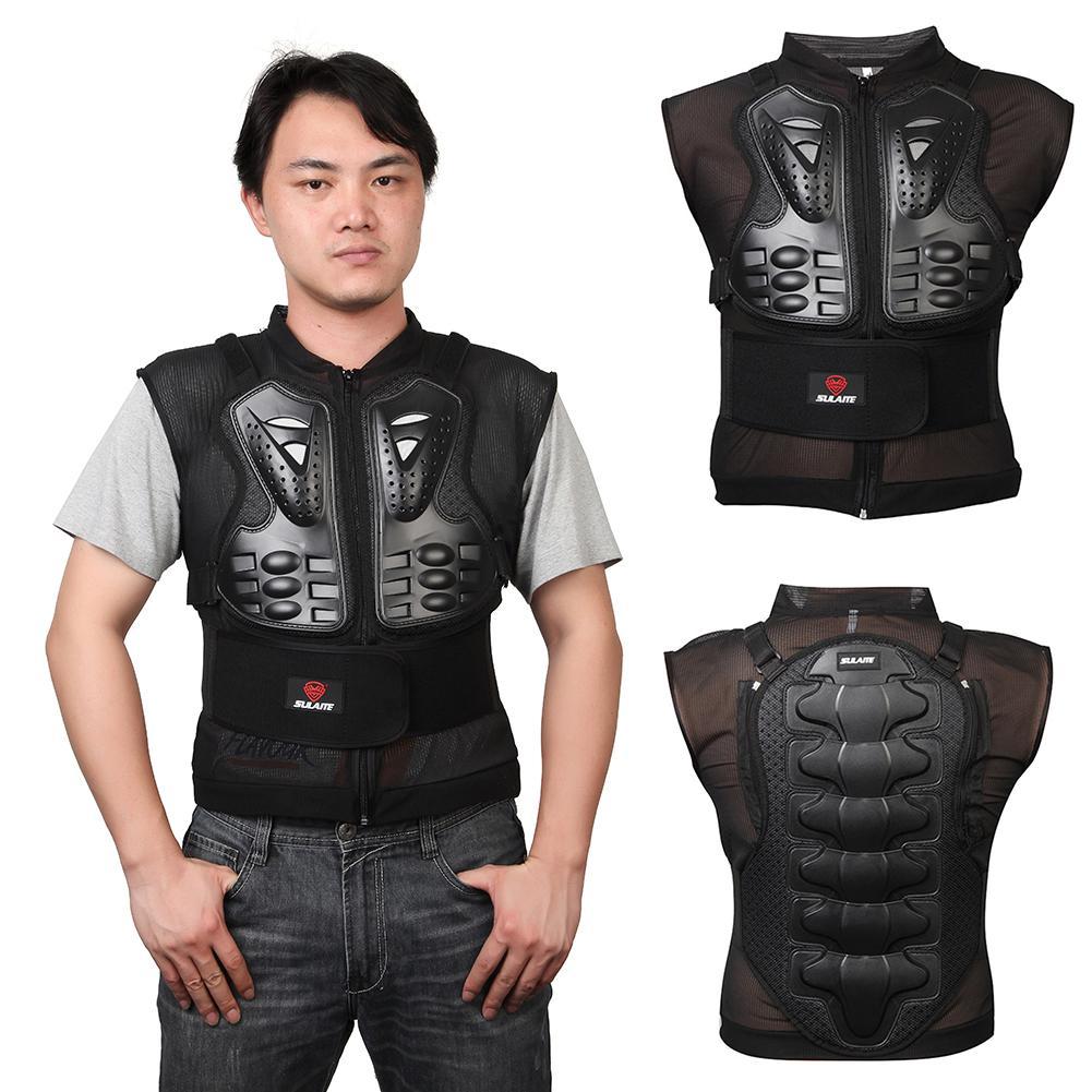 Net Motorfiets Doek Rijden Ridder Mesh Mouwloze Off-road Verstelbare Armor Vest Jacket Terug Guard Bescherming Levert Accessoires Comfortabel Gevoel