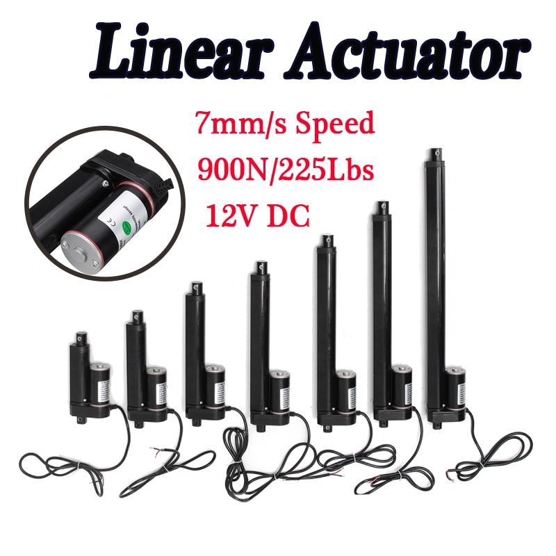 "2 Set 8/"" Linear Actuator 12V Motor W// Mount Brackets for Window Opener Car Boat"
