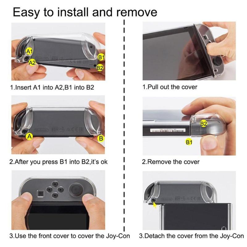 Image 5 - 170mm*100mm*30mm Hard PC Protection Cover Transparent Crystal Case Shell Sleeve for Nintend Switch NS Handle Console Controller-in Cases from Consumer Electronics