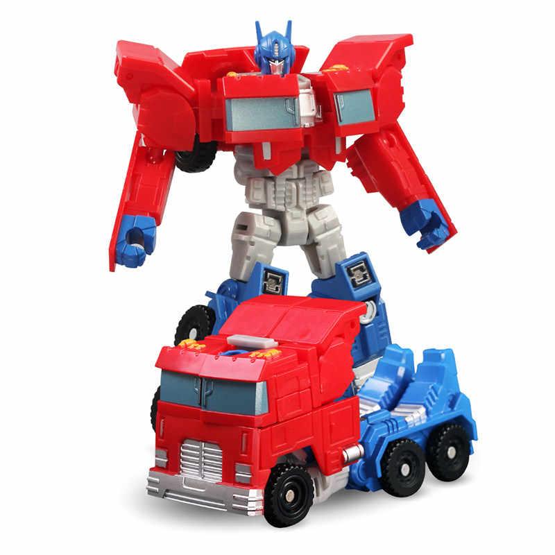 6 ألوان التحول تشوه روبوت صهريج شاحنة سباق السيارات نموذج طائرة عمل أرقام اللعب هدية للأولاد الأطفال