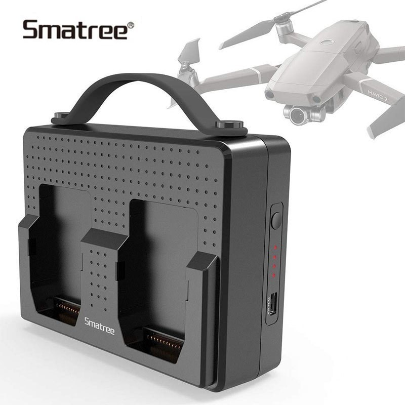 Smatree Portable Batteries Pour DJI Mavic 2 Pro Station De Recharge Compatible Charge Deux Mavic 2 Pro Batteries Simultanée