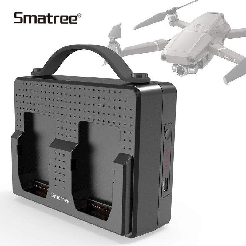 Smatree baterías portátiles para DJI Mavic 2 Pro estación de carga Compatible cargar dos Mavic 2 Pro baterías simultánea